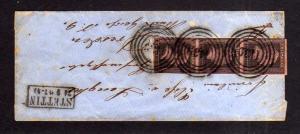 v061 aus Stettin Sammlung Preußen Brief Mi. 2a senkr. Dreierstreifen Nr.-o 1439