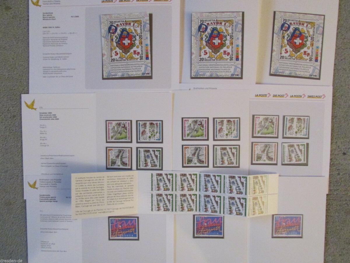 Schweiz Pro Partia 2000 postfrisch+ weitere MH Folder Nomi 26,70 CHF 0
