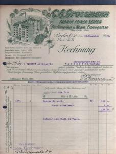 v520 Briefbogen Firmenrechnung Berlin O34 1920 Fabrikansicht Seifen Fabrik Parfü