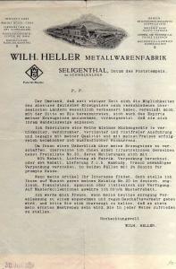 v584 Briefbogen Werbebrief Selihenthal bei Schmalkalden Fabrikansicht vor 1935