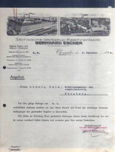 v532 Briefbogen Firmenrechnung Chemnitz Bebelstr. 1929 Werkzeug Maschinenfabrik
