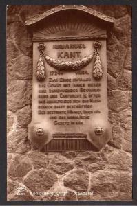 Ansichtskarte Königsberg Ostpr. Immanuel Kant Gedenktafel