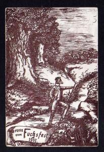 Ansichtskarte Studentika 1907 Gruss vom Fuchsfest Geestmünde Verlag : ohne
