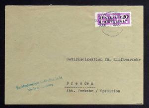 B1852 DDR ZKD 15 Kontrollnummer 3000 Brief Neubrandenburg geprüft BPP Bezirksdir