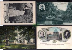 4 Ansichtskarte Fürst Bismarck Sachsenwald Hirschgruppe Friedrichsruh Ruhestätte Sch