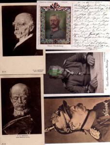 9 Ansichtskarte Fürst Bismarck F.von Lehnbach Hindenburg 1909 1924