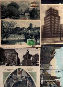6 Ansichtskarte Breslau Postscheckamt Ohlau Ufer 1929 Ring Schweidnitzer Keller 1916