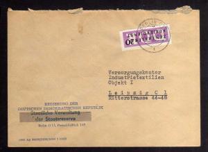 B2231 DDR ZKD 7 Brief Berlin O17 Regierung der DDR Verwaltung der Staatsreserve
