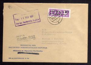 B2229 DDR ZKD 6 Brief Berlin O17 Regierung der DDR Ministerium