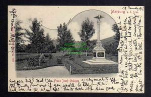 Ansichtskarte Maribor Marburg an der Drau 1902 Franz Josef Anlagen Denkmal