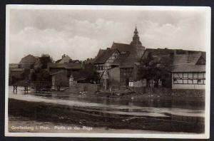 Ansichtskarte Greifenberg Pom. Häuser an der Rega 1938