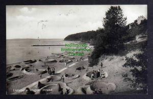 Ansichtskarte Lietzow a. Rügen 1932 Fotokarte Strand