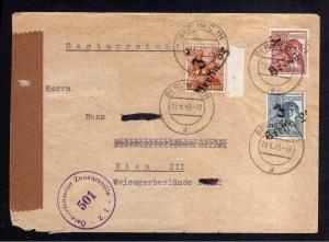 h1603 Handstempel Bezirk 3 Berlin 25 Brief nach Österreich Zensur 29.6.48