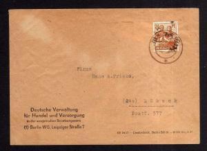 h1382 Brief Handstempel Bezirk 3 Berlin 66 2.7.48 gepr. Busse BPP