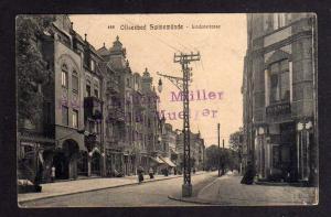 Ansichtskarte Ostseebad Swinemünde 1913 Lindenstrasse Geschäft Erich Frahm