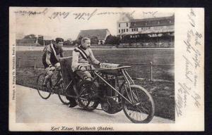 Ansichtskarte Fahrrad Karl Käser Schrittmacher Waldkirch Baden 1905
