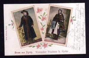 Ansichtskarte Pyrzyce Pyritz Weizacker Trachten 1900