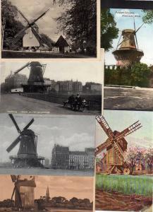 6 Ansichtskarte Windmühle Mole Rotterdam St. Quentin Iseghem Abeelemolen Leiden Haar
