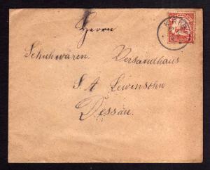 Brief Kribi Kamerun 1908 an Schuhwaren Versandhaus Lewinsohn Dessau