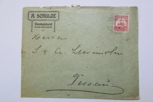 Bedarfsbrief Swakopmund DSW 1909 Vordruck A. Schulze an Versandhaus Lewin