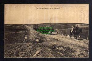 Ansichtskarte Kurland Litauen 1917 Kavallerie Patroullie
