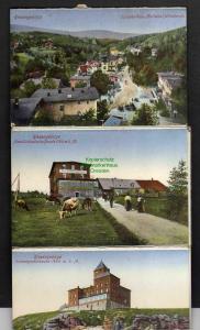 19 Ansichtskarte Riesengebirge Hampelbaude Prinz Heinrich Baude Rennerbaude Hirschbe