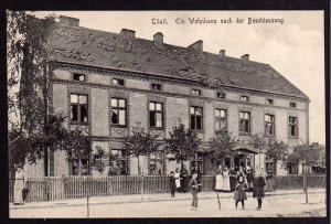 Ansichtskarte Tilsit Wohnhaus nach der Beschiessung um 1915 Verlag Tageblatt Litauen