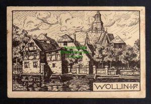 Ansichtskarte Wolin Wollin in Pommern 1923 Künstlerkarte R. Roestel 1920