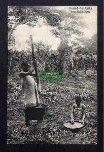 Ansichtskarte Deutsch Ostafrika Native beim Reisstampfen Verlag Dobbertin 341 u 1910