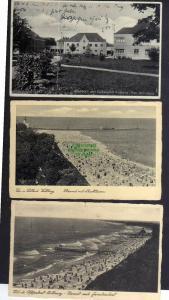 3 Ansichtskarte Kurlazarett Kolberg 1934 Strand Kolobrzeg