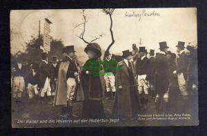 Ansichtskarte Der Kaiser Kaiserin Hubertus Jagd 1911 Prinzessin Victoria Luise Prinz