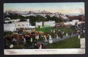 Ansichtskarte Tanger Marokko Soko exterieur et Legation Allemande 1910 Gesandtschaft