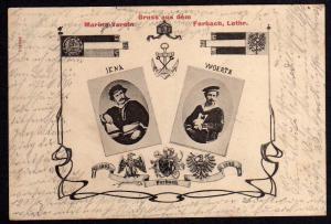 Ansichtskarte Forbach Lothringen 1907 Marine Verein Jena Woerth