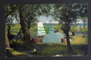 Ansichtskarte Ostseebad Kahlberg Am Ufer des Haffs um 1920