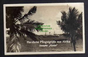 Ansichtskarte Lobito Afrika Dampfer Njassa  Deutsche Seepost Ost Afrika Linie