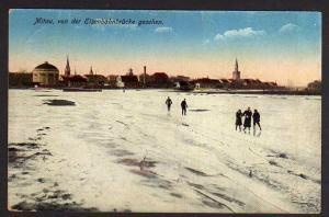 Ansichtskarte Mitau Jelgava Lettland 1917 Feldpost Winter Schnee Eis