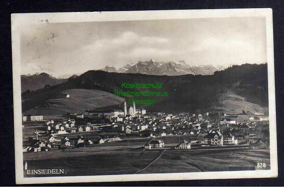 Ansichtskarte Einsiedeln Schwyz Fotokarte Panorama 1925 0