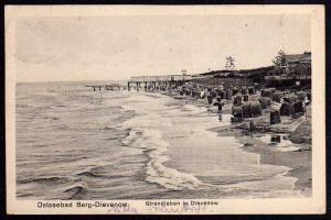 Ansichtskarte Ostseebad Berg Dievenow 1925 Strandleben Dziwnow