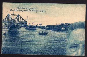 Ansichtskarte Liepaja Libau Lettland 1916 Kriegsbild Durch Russen zerstörte Brücke