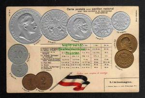Ansichtskarte Münzprägekarte Deutschland Kaiserreich Allemagne Fahne Flagge um 1905