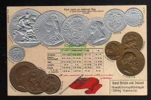Ansichtskarte Münzprägekarte Großbritannien und Irland Great Britain Ireland um 1905