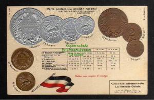 Ansichtskarte  Münzprägekarte Deutsch Neuguinea 1894 Silber 1 - 5 Mark 20 Goldmark