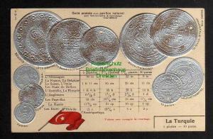 Ansichtskarte Münzprägekarte La Turquie Türkei Flagge um 1900