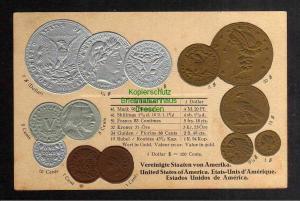 Ansichtskarte Münzprägekarte USA um 1900 Vereinigten Staaten von Amerika