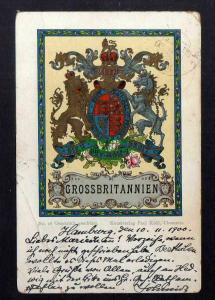 Ansichtskarte Wappenkarte Großbritannien 1900 Kunstverlag Paul Kohl Chemnitz