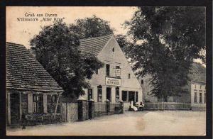 Ansichtskarte Dyrotz Wustermark Gasthaus Willmanns Alter Krug 1922 Porto