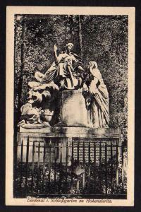 Ansichtskarte Hohenzieritz Denkmal im Schloßgarten