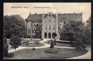 Ansichtskarte Neukloster Grossherzogl. Seminar 1915
