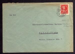 B1106 Brief SBZ Camburg Saale Thüringen 12.1.46 an Provinzialverwaltung Sachsen