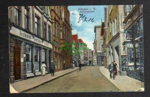 Ansichtskarte Minden Westf. Bäckerstraße 1916 Restaurant Drei Kaiser Feldpost